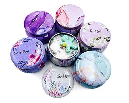 SCSpecial Latas para velas a granel, 6 piezas, 4 onzas, tarros para velas perfumadas con tapas, recipientes decorativos para velas para hacer velas