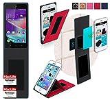 Hülle für Wiko Rainbow Lite 4G Tasche Cover Hülle Bumper | Rot | Testsieger