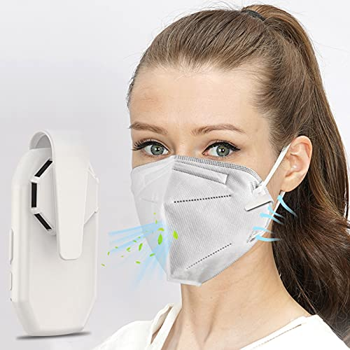 QIUXIA Maske Luftgebläse, USB Luftzirkulation Compact Carry Komfortabler Mini Clip-Lüfter für maske, Tragbarer Ventilator Kühle Maske Hitzeschlag Gegenmaßnahmen Sommer Antibakteriell Kleiner Lüfter