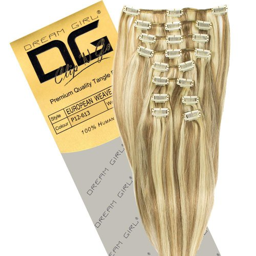 Dream Girl Extensions de cheveux à clipser Couleur 12/613 35 cm