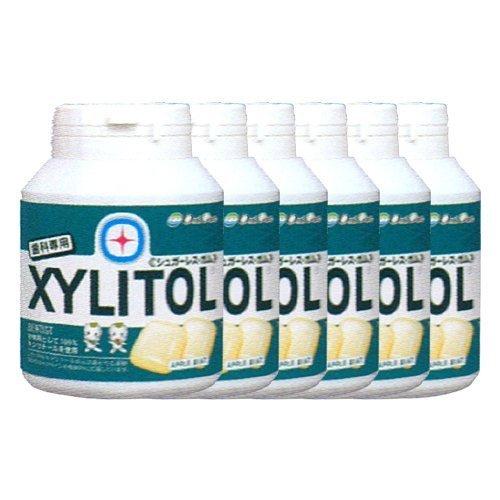 【オーラルケア】【歯科専用】キシリトールガム ボトルタイプ 90粒入り(153g)×6個 アップルミント