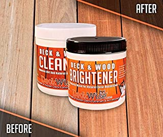 DeckWise 16 ounce Parts A and B, Wood Cleaner and Brightener Combo Kit