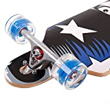 FunTomia Longboard Skateboard Drop Through Cruiser Komplettboard mit Mach1 High Speed Kugellager T-Tool mit und ohne LED Rollen - 4