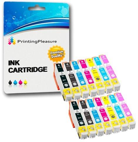 14 Tintenpatronen kompatibel zu Epson 24XL für Expression Photo XP-55 XP-750 XP-760 XP-850 XP-860 XP-950 - Schwarz/Cyan/Magenta/Gelb/Hell Cyan/Hell Magenta, hohe Kapazität
