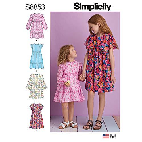 Simplicity Schnittmuster für Kinder- und Mädchenkleider, Größen 7-14