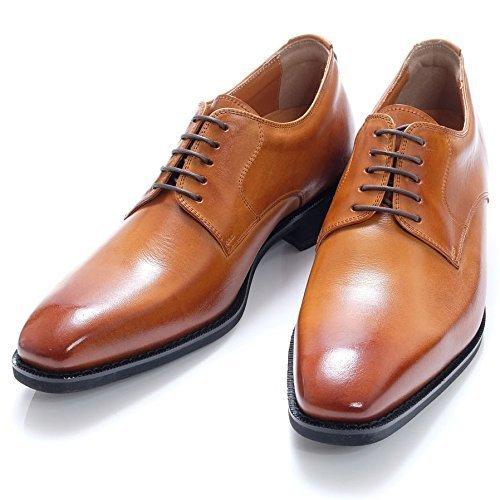 (North Island Shoe Industry Institute)北島6cmUPレザーハイニングシューズロングヘッドアウターフェザーフラットシューズ「フットロングトップス」* 931(日本製レザーレースグルーミング製メンズシューズメンズ)ラクダ26.0 cm