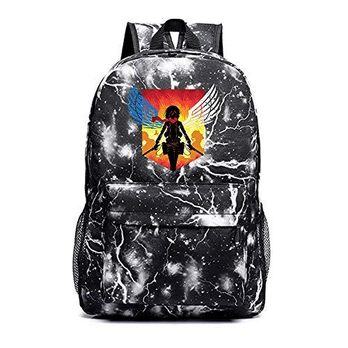 Attack on Titan Mochila Viaje Mochila del morral del Trekking Senderismo Mochila Bolsa de Hombre y Mujeres de Tendencia Wild Style Estudiantes de Moda Mochilas Escolares