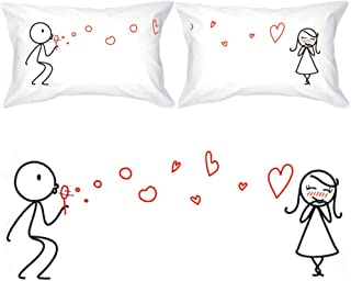 BoldLoft from My Heart to Yours Couples Pillowcases for Him and Her|Cute Girlfriend Gifts for Valentine's Day,Birthday,Anniversary,Christmas|His and Hers Gifts for Couples|Romantic Gifts for Her