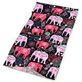 Magic Headwear for Men and Women Pink Elephant Tube Scarf Facemask Headbands Neck Gaiter Bandana for Running, Hiking, Motorcycle, Yoga