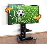 RICOO Meuble sur Pied TV Design FS707B Support en Verre Colonne LED LCD Plasma QE...