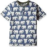 Hatley Boy's TS5ELPH429 T-Shirt, Blue (Patterned Elephant), 4 Years