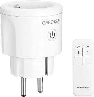 GreenSun Smart Draadloze stopcontacten met afstandsbediening, eenvoudig op afstand bedienbare stekker, 30 m bereik