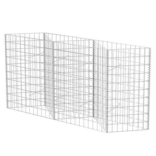 vidaXL Cesta/jardinera/arriate de gaviones de acero 150x30x100 cm