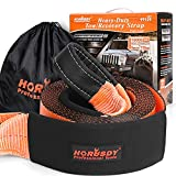 HORUSDY Recovery Tow Strap 4' x 20Ft - Heavy Duty 40,000 LBS Break Strength, Recover Your Vehicle Stuck in Mud/Snow.