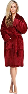 Women's Luxurious Flannel Bath Robe - Warm and Soft, Red Variant Size Value One Size Fit Most