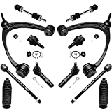 Fits: Specific Models - Check Fitment Chart and Product Description for Accurate Information Kit Includes: 2x Front Upper Control Arm With Ball Joint + 2x Front Sway Bar End Links + 2x Front Lower Ball Joints + 4x Front Tie Rods + 2x Rack And Pinion ...
