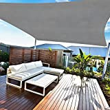 Amazmic Sun Shade Sail Rectangle 13'x16' UV Block Waterproof Canopy Outdoor Activities Patio/Garden/Backyard/Swimming Pools/Carports, Gray