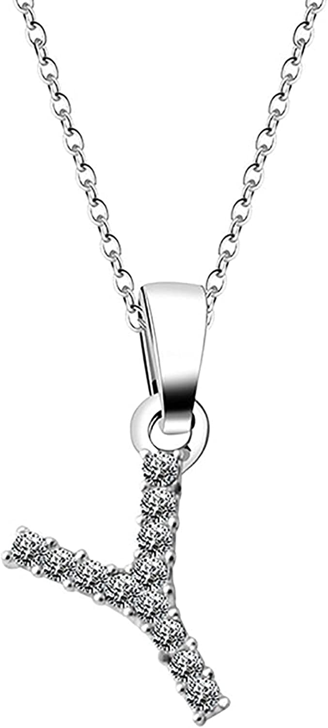 erDouckan Initial Letter Necklace All-Matched Adjustable Women Letter Necklace Simple Alloy Trendy Stylish Accessory