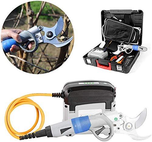 RENXR Fachmann Astschere Elektro-Trimmer, Garten Schneidewerkzeug Elektrische Gartengeräte mit Rucksack Und Toolbox DM 45mm