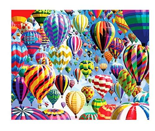 Pintura Al Óleo Digital Paisaje Pintura Lienzo Pintado A Mano Imagen Globo Aerostático Para Colorear Arte Regalo Decoración Del Hogar 40X50 Cm