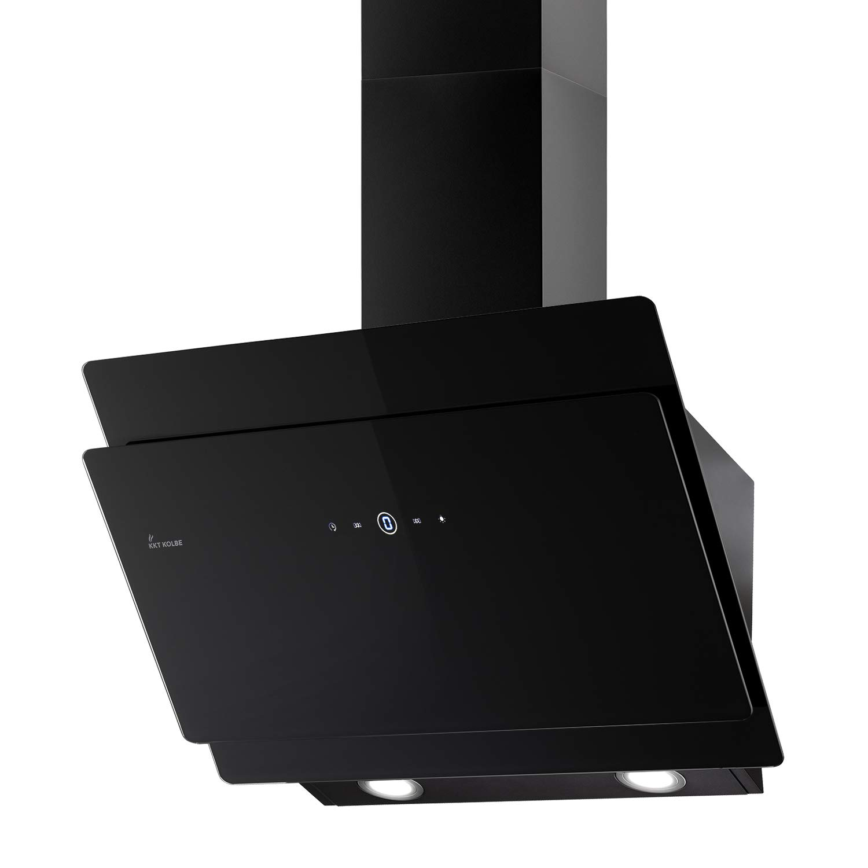 Campana extractora de pared (80 cm, acero inoxidable, cristal negro, eficiencia A+, iluminación LED, pantalla, teclas de sensor TouchSelect, desbordamiento automático) SOLO809S - KKT KOLBE: Amazon.es: Hogar