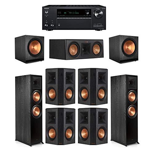Best Prices! Klipsch7.2 Ebony System - 2 RP-8000F,1 RP-500C,4 RP-502S,2 SPL-150,1 TX-NR797 Receive...
