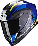 Scorpion NC Casco per Moto, Hombre, Negro/Azul, L