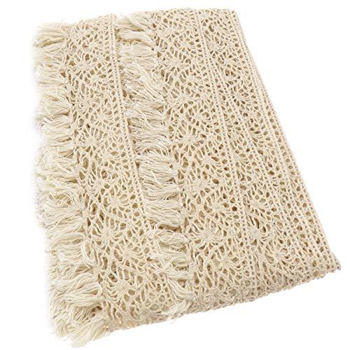 OTOTEC - Cinta de Ganchillo de 10 m de algodón con Borde de Encaje para decoración de Boda, Cinta de Borla para Costura