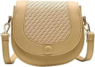 TOOGOO New Summer Wild Girl Shoulder Bag Fashion Simple Chain Sling Saddle Bag Yellow