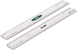 Rulex brittisk modell järnväg 30 cm 12 tum platt oval skala linjal brittisk OO-mätare 1:76 HO mätare 1:87 N mätare 1:148 O...