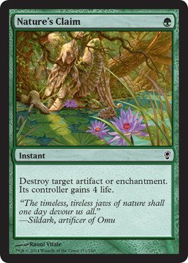 Magic The Gathering - Nature's Claim (171) - Conspiracy by