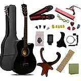 ギター 初心者 入門 アコースティック チューナーピックセット16点セット クラシックギター ブラック