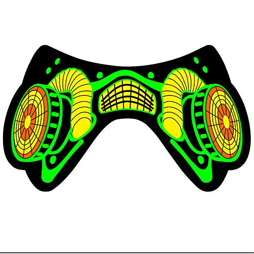 FILWS Máscara Deportiva Transpirable A Prueba De Bacterias Máscara Luminosa De Luz Fría Máscara LED Emisora de Luz Máscara De Música Activada por Voz