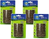 (4 Pack) PetSafe Busy Buddy Refill Ring Dog Treats for Select Busy Buddy Dog Toys, Natural Rawhide, Size C