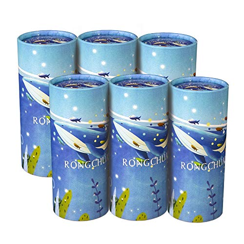 RONGCHUANG Facial Tissue 6 Packs 120 Count Tissues Per Tube Portable Cylinder Box Roll for Office Car HomeSea