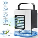 Portable Air Cooler, Mini Air Conditioner, 3 in 1 Personal Evaporative Cooler, Humidifier, Purifier with USB, 3 Speed Desktop Cooling Fan for Home, Room, Office