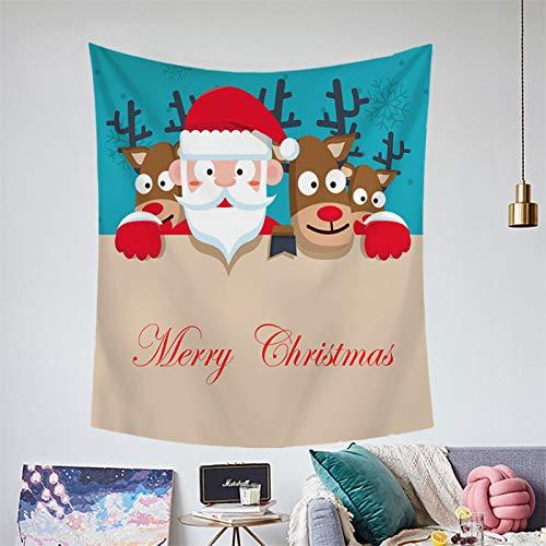 Estilo Europeo Simple Navidad Colgante De Tela Decoración Tapiz Tapiz Toalla De Playa Tapiz Árbol De Navidad Alce Sala De Estar Dormitorio Fiesta Manta Impresa