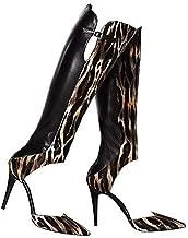 Tamara Mellon Criminal Jungle Calf Hair Open Boot Size 9.5 Black