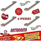 Kit 4 Pezzi Ricambio Asta ASTE Supporto SCOLAPIATTI 4PZ in PLASTICA
