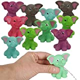 ArtCreativity Rubber Water Squirting Elephants, Pack of 12, Bathtub and Pool Toys for Kids, Safe and Durable Water Squirters, Birthday Party Favors, Goodie Bag Fillers