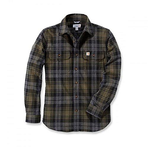 Carhartt Hubbard Slim Fit Camicia di flanella muschio XX-Large