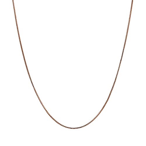 Honolulu Jewelry Company 14K Solid Rose Gold Box Chain Necklace 33a7d5760c2f