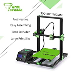 95% Assembled, easy for installation High accuracy printing quality, down to 50 microns Large Print Size: 300*300 * 400mm Compact and small size all-in-one Powerbox with LCD control panel Fast heating AC heatbed