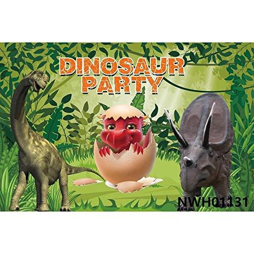 Dinosaur Jungle ForestAnimal Safari Party Recién Nacido Baby Shower Niño Cumpleaños Telón de Fondo Fotografía Fondo para Estudio fotográfico A20 7x5ft / 2.1x1.5m