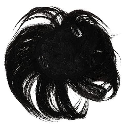 FRCOLOR Peluca Corta Mujer Peluca Recta Negra Gatsby Cleopatra Cosplay Pelucas 1920S Fiesta Disfraz Pelucas para Damas 20Cm