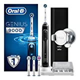<span class='highlight'>Oral</span>-B Genius 9000 CrossAction <span class='highlight'>Electric</span> <span class='highlight'>Toothbrush</span>, 1 Black App Connected Handle, 6 Modes, Pressure Sensor, 4 <span class='highlight'>Toothbrush</span> Heads, 1 USB Travel Case, 2 Pin UK Plug Gift for Men/Women