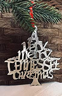 1079 Very Merry Tennessee TN Christmas Ornament Pewter
