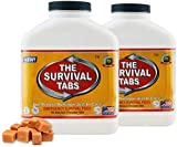 Survival Tabs - 30-Day Food Supply-Emergency Survival Food MRE for Camping Biking, Disaster Preparedness Gluten-Free Non-GMO 25 Years Shelf Life (2 bottle x 180 tabs/Butterscotch)