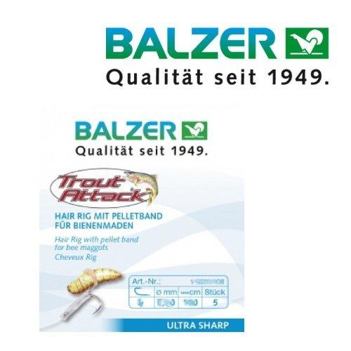 Balzer Trout Attack Hair Rig für Bienenmaden 60cm Gr. 10 16071010 Bienenmadenhaken Haken