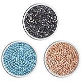 Meilanty Damen Halskette Anhänger 3 Coin 33mm für Münzfassungen Edelstahl Schmuckmünzensatz 3GP-0115
